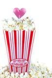 Popcorn mit Liebe stockfotografie