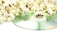 Popcorn and movie Royalty Free Stock Photos