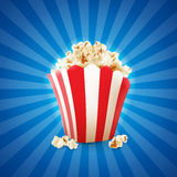 Popcorn. For movie and fast food royalty free illustration