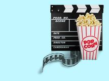 Popcorn. Movie Isolated Box Coupon film Event Royalty Free Stock Images
