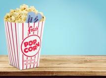 Popcorn. Movie Movie Ticket Ticket  Box Coupon Stock Image