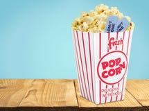 Popcorn. Movie Movie Ticket Ticket  Box Coupon Royalty Free Stock Image