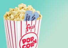 Popcorn. Movie Movie Ticket Ticket Isolated Box Coupon Royalty Free Stock Photo