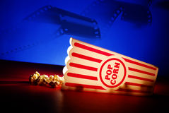 Popcorn at the Movies Royalty Free Stock Images