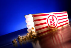 Popcorn at the Movies Stock Image