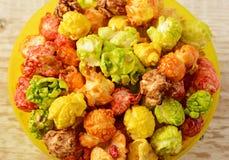 Popcorn multicolored Stock Image