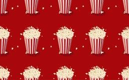 Popcorn Naadloos patroon met popcornpak Royalty-vrije Stock Foto