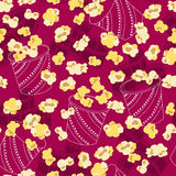Popcorn-nahtloser Wiederholungs-Muster-Vektor Lizenzfreies Stockfoto