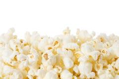 Popcorn op wit Stock Fotografie