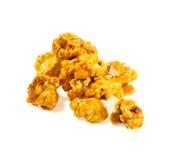 Popcorn op witte achtergrond wordt geïsoleerd die Royalty-vrije Stock Afbeelding