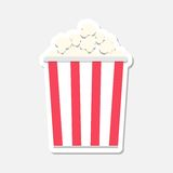 Popcorn package bag stickers. Vector icon Stock Photo