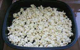 Popcorn in pan Royalty Free Stock Photo