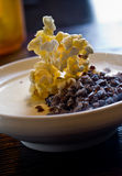 Popcorn panna cotta Stock Photography