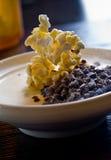 Popcorn panna cotta Stock Photography