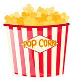 Popcorn in paper bucket. Illustration Stock Images