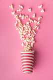 Popcorn in paper cup Royalty Free Stock Photo