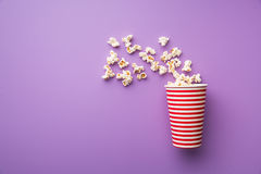 Popcorn in paper cup Royalty Free Stock Image