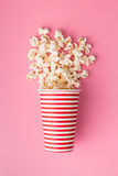 Popcorn in paper cup Stock Photos