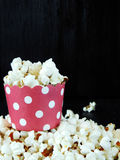 Popcorn in a paper cup Stock Photos