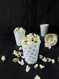 Popcorn in paper cups royalty free stock photos