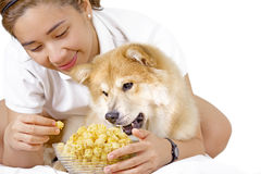 Popcorn Party Stock Photo