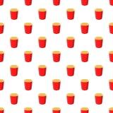 Popcorn pattern, cartoon style Royalty Free Stock Photo