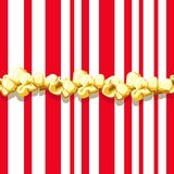 Popcorn pattern. Delicious and colorful seamless background. Vector illustration Royalty Free Stock Photo