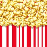 Popcorn pattern. Delicious and colorful seamless background. Vector illustration Stock Photos