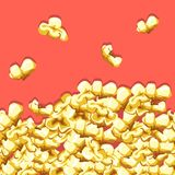 Popcorn pattern. Delicious and colorful seamless background. Vector illustration Royalty Free Stock Images