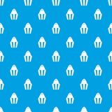 Popcorn pattern seamless blue. Popcorn pattern repeat seamless in blue color for any design. Vector geometric illustration Royalty Free Stock Photo
