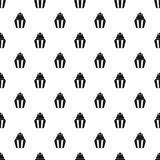 Popcorn pattern vector. Popcorn pattern seamless in simple style vector illustration Royalty Free Stock Photo