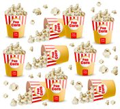 Popcorn pattern Vector realistic. 3d detailed illustrations. Popcorn pattern Vector realistic. 3d detailed illustration Royalty Free Stock Photo