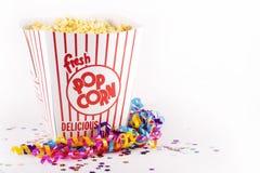 Popcorn per il partito fotografie stock libere da diritti