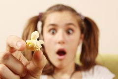 Popcorn piece Stock Images