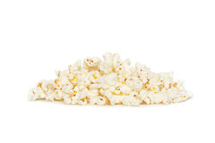 Popcorn pile isolated on white Royalty Free Stock Images