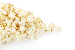 Popcorn pile on white Stock Photos