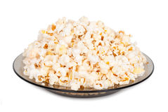 Popcorn on a plate Royalty Free Stock Images