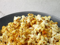 Popcorn on plate Stock Photography