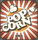 Popcorn. Pop corn retro design tin sign. Popcorn vintage poster concept vector illustration
