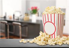 Popcorn. Overflowing sweetcorn corn crop food deflated freshness royalty free stock images