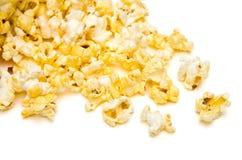 Popcorn rovesciato Fotografie Stock Libere da Diritti