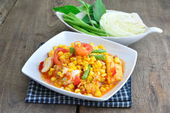 Popcorn Salad ,Spicy Thai Food. Royalty Free Stock Images