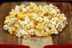 Popcorn schioccato Fotografia Stock