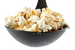 Popcorn on scoop Stock Photos