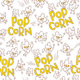 Popcorn seamless pattern Stock Photography
