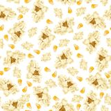 Popcorn seamless pattern Royalty Free Stock Photo