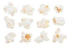 Popcorn. Set isolated on white background Stock Photography