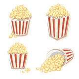 Popcorn set. Vector Royalty Free Stock Images