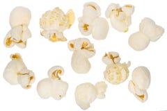 Popcorn set  on white Stock Photos