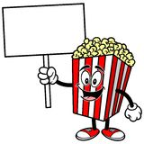 Popcorn with a Sign. A vector illustration of a Popcorn with a Sign Royalty Free Stock Photo